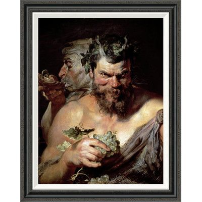 Photo of Global Gallery 'The Two Satyrs' by Peter Paul Rubens Framed Painting Print   Wayfair