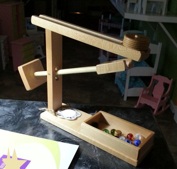 Marble Machine Solid Wood Amish Made Handcrafted Dropping