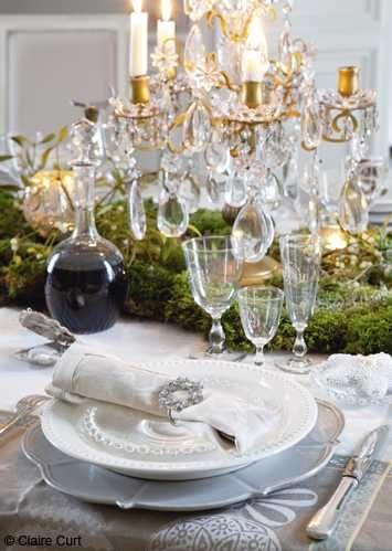 elegant french decor   ... Christmas centerpiece idea, Christmas decorating in light colors