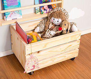 Caixote Camarada Pequeno Cru Bau De Brinquedos Sala De