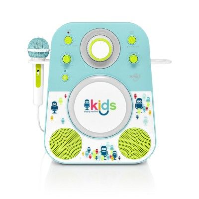 Singing Machine SMK250PPT Kids Karaoke system, Blue Green #karaokesystem