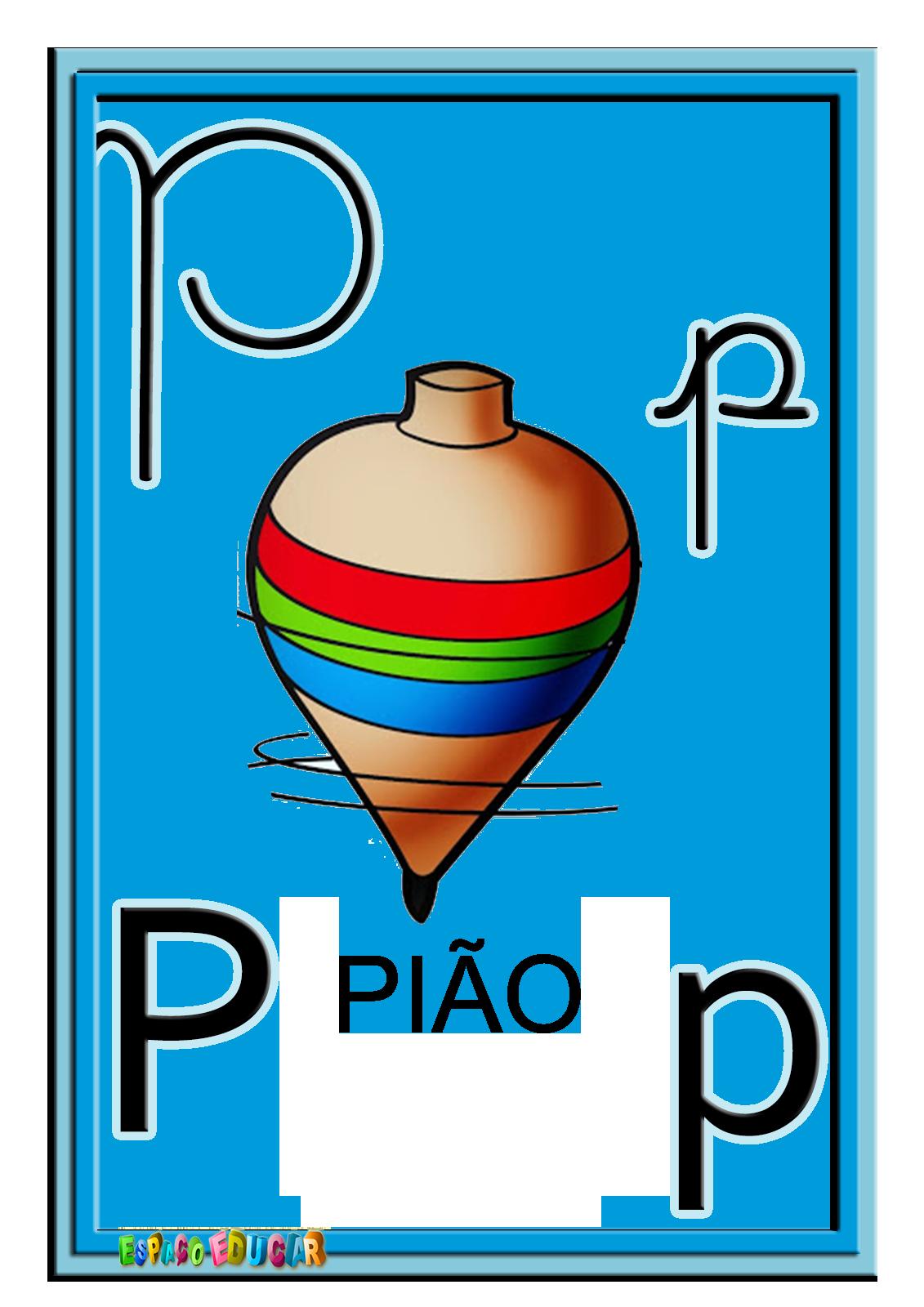 Alfabeto Quatro Tipos De Letras Colorido Ilustrado Alfabeto