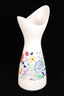 A Large Poole Pottery Freeform Elliptical Vase With Asymmetrical Rim Decorated With Coloured Stylised Banded Floral Decora Antique Auctions Pottery Stourbridge