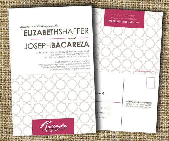 Custom Perforated Wedding Invitations