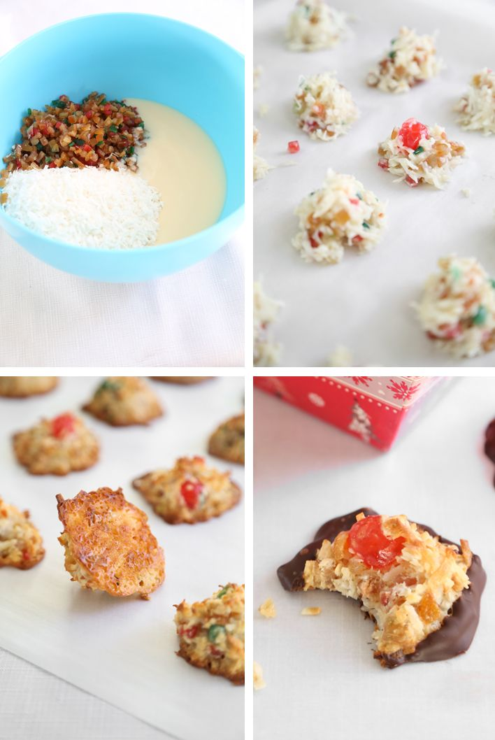 Gift This! Candied Fruit Coconut Macaroons   Sprinkle Bakes
