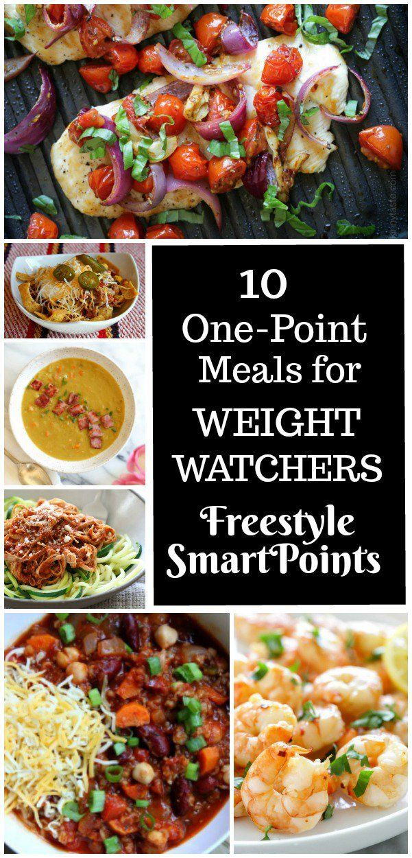 10 One Point Meals for Weight Watchers Freestyle Program #tacosoup