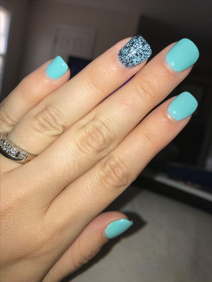 SNS dipped nails | Dipped nails, Luxury nails, Blue nails