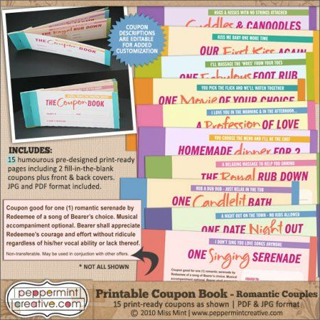Cute romantic coupons girlfriend stuff pinterest glitter printable coupon books for couples romantic sciox Image collections