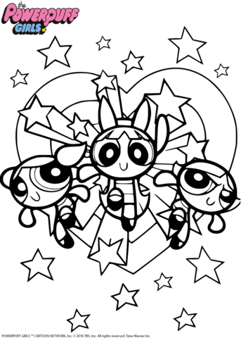 powerpuff girls coloring page - Powerpuff Girls Coloring Pages