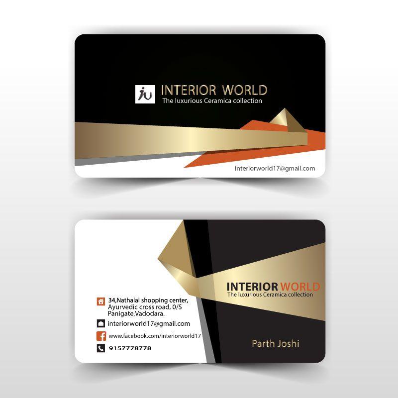 Business Card Interior Design Constructor On Behance Cartao