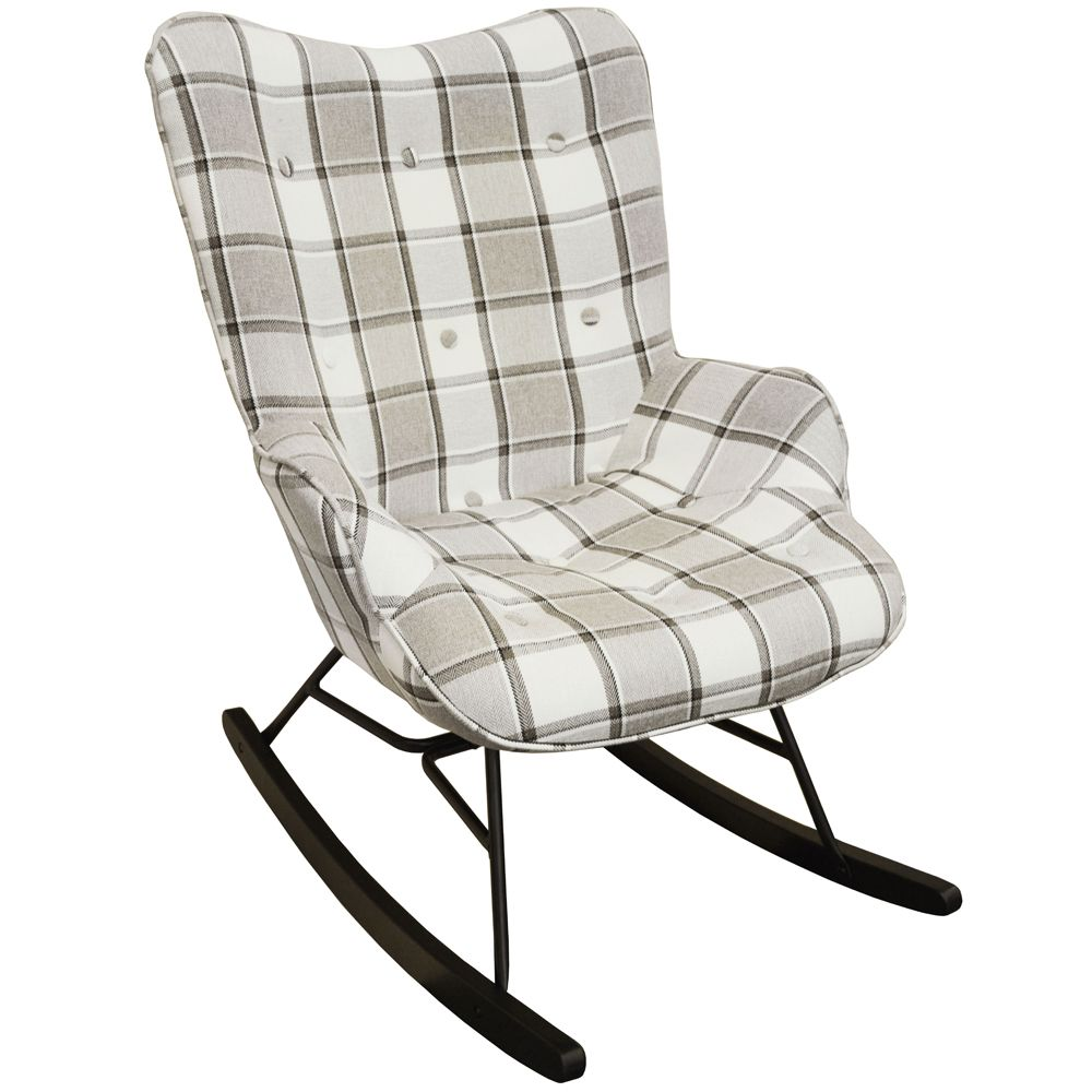 Check tartan nursing rocking chair rocking chair