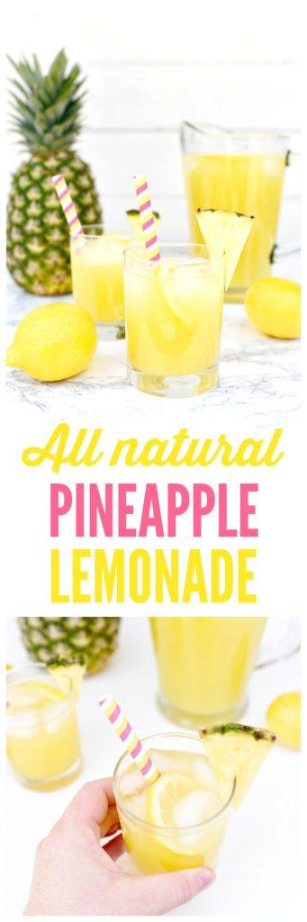 All Natural Pineapple Lemonade Recipe