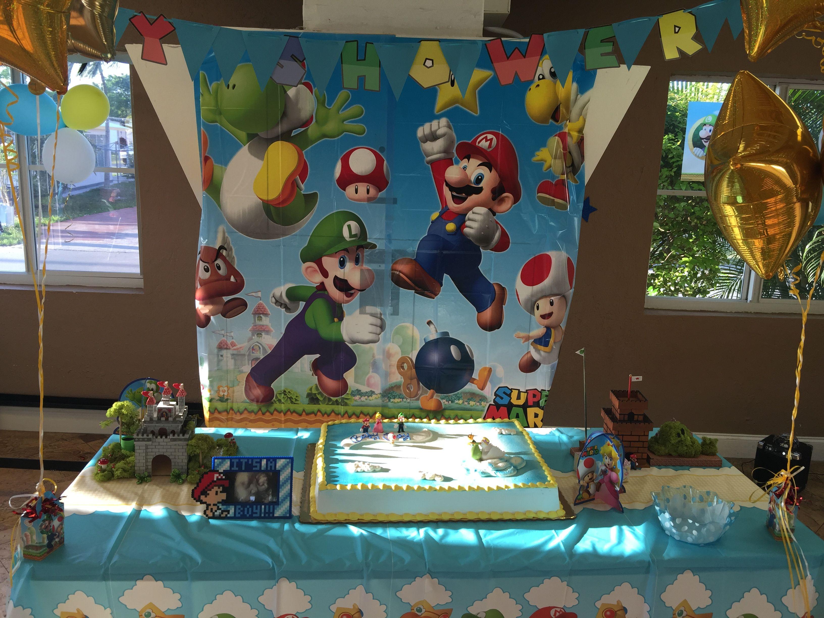 Super Mario Baby Shower Super Baby Mario Shower Pinterest