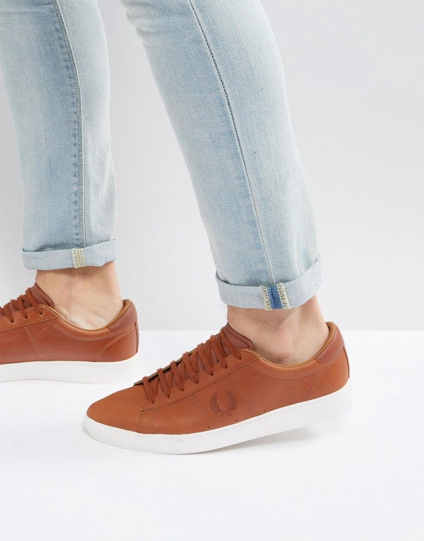 Fred Wax shoes Spencer fredperry Perry Tan Tan Sneakers Leather BqrBFZ