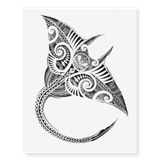 maori stingray temporary tattoo | Zazzle.com