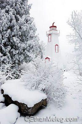 #Lighthouse in the snow, Tobermory http://dennisharper.lnf.com/