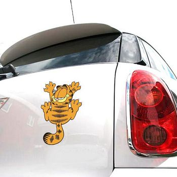 2020 Cute Car Stickers Garfield Cat Car Rearview Mirror Personalized Cartoon Animal Decoration Decals Funny Decal Sticker From Smartgives 26 24 Dhgate Com Cute Cars Car Stickers Funny Decals