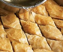 Apricot & Pistachio Baklava with Orange-Cardamom Syrup #finecooking