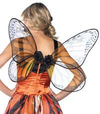 Orange And Black Strapless Monarch Wings - Fairy Costumes