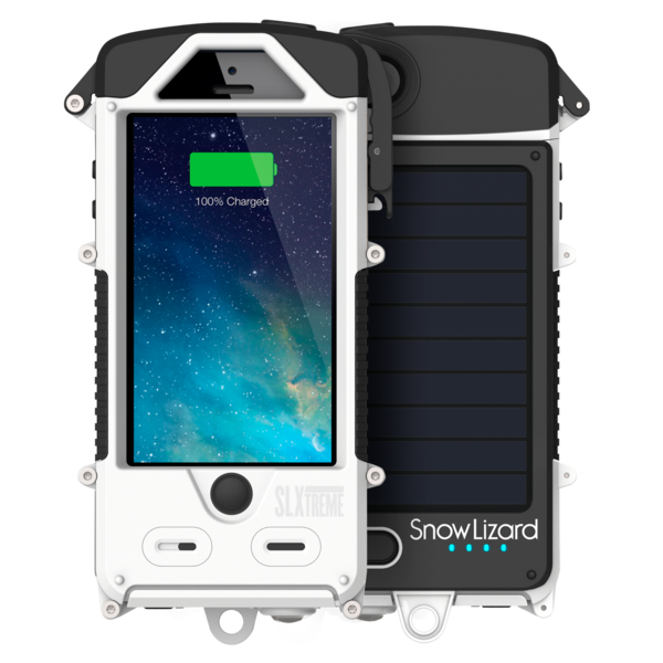 Solar powered water proof sand proof rugged iphone case
