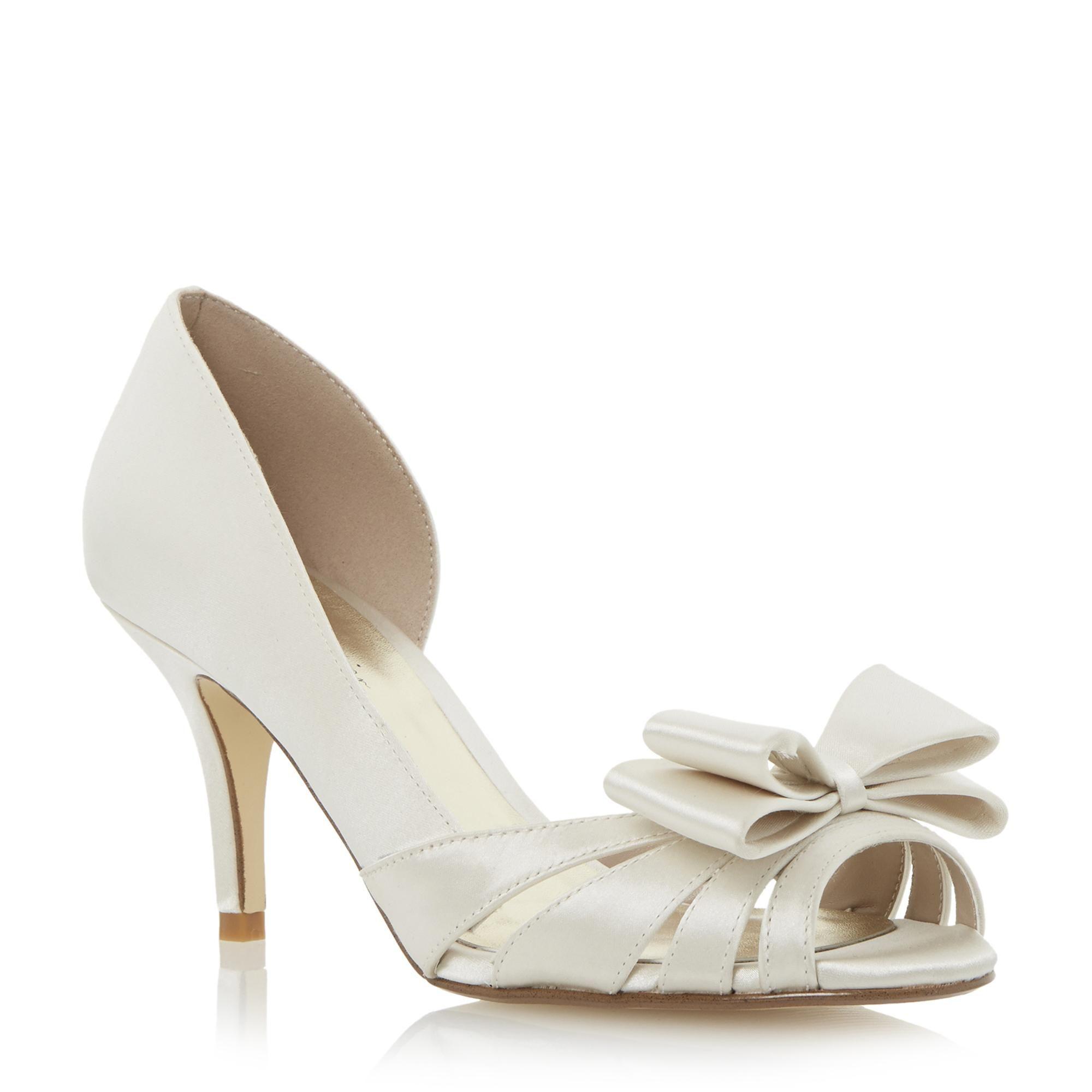 9efc50054c2 Roland Cartier Ladies DELOMA - Bow Trim Semi D Orsay Court Shoe - ivory