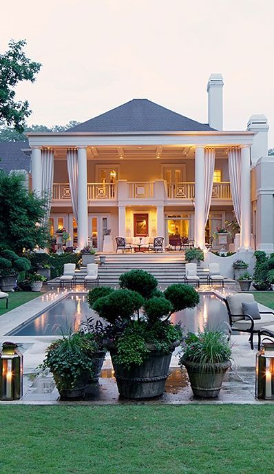 54 stunning dream homes mega mansions from social media for Southern dream homes