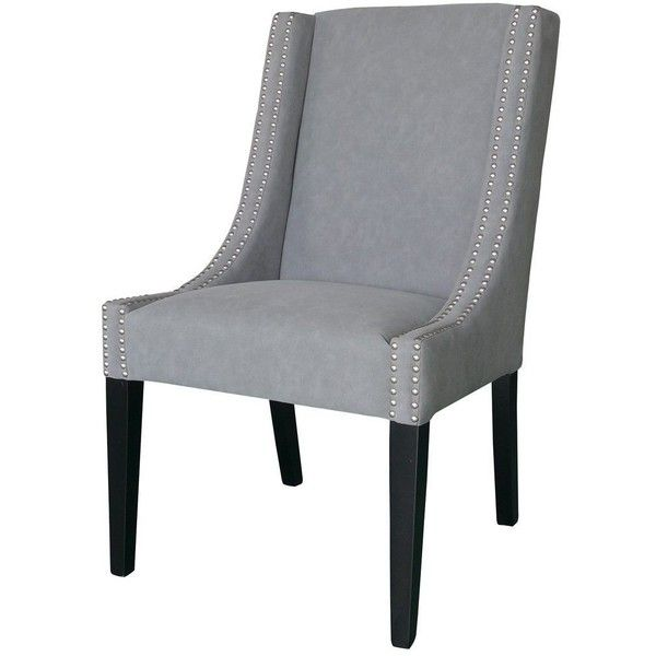Sloane Grey Studded Dining Chair 795 Cad Liked On Polyvore Featuring Home