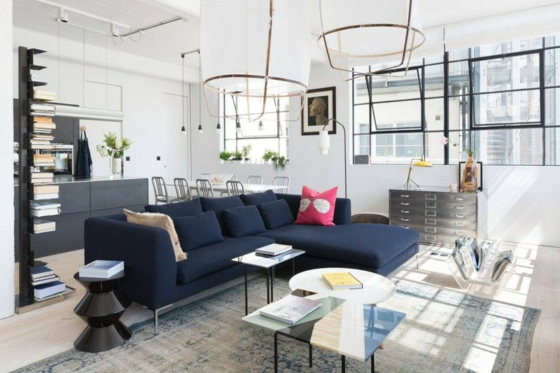 apartment design im industriellen stil loft, wohnung im industriellen stil mit freundlichen ambiente #ambiente, Design ideen