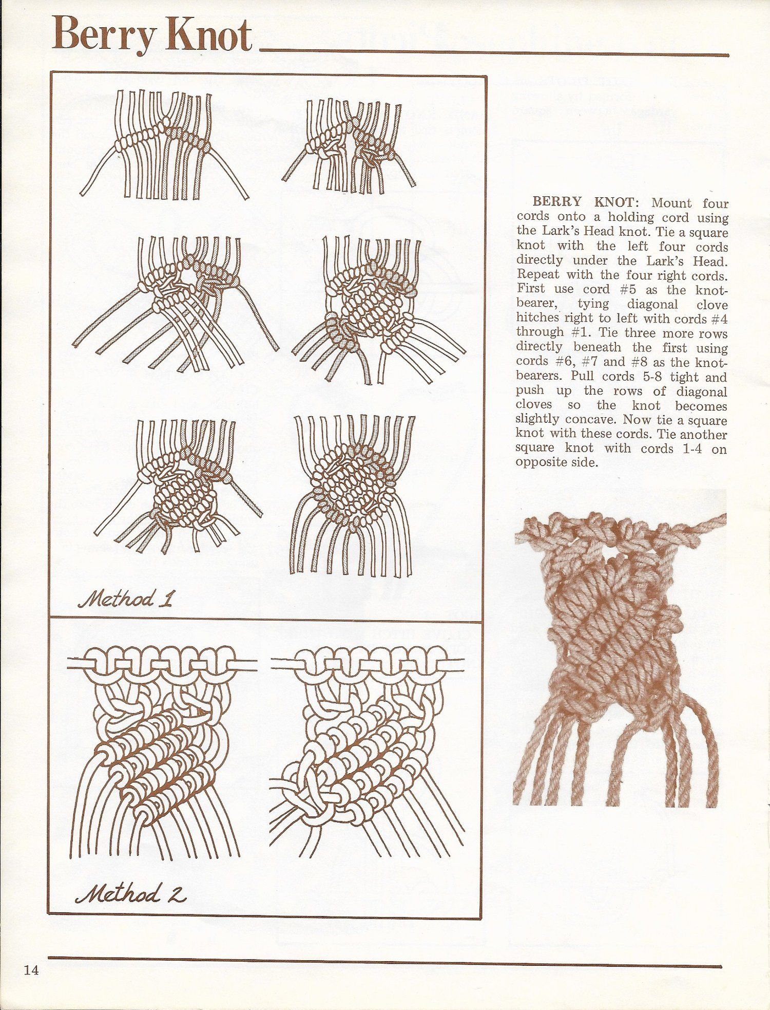 A Primer of Macramé Knots • 1970s Macrame Reference Book PDF — Starshop Vintage