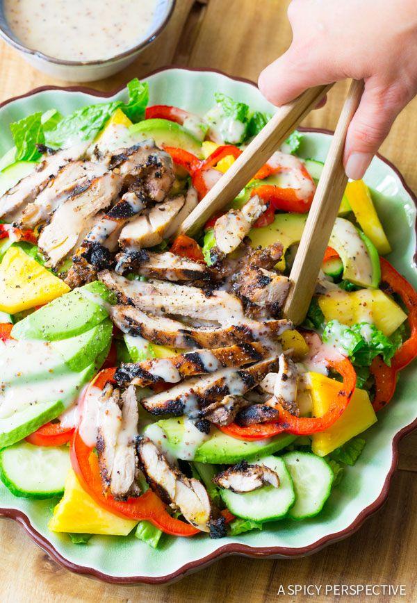 Jamaican jerk chicken salad recipe jerk chicken salad and red food jamaican jerk chicken forumfinder Image collections