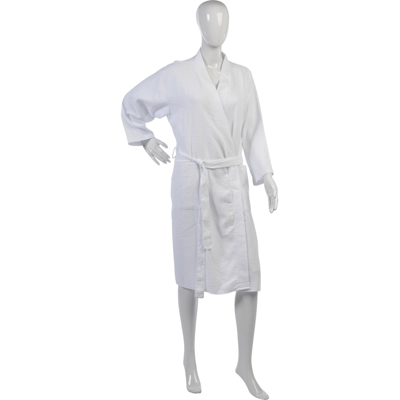 Ladies Lightweight Waffle Dressing Gown S - XL (White) | Waffles ...