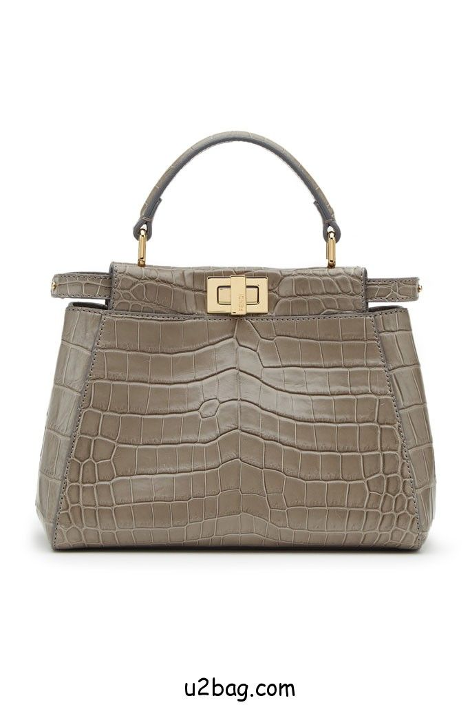 23274df0bff4 FENDI CROCODILE BAGS | Fendi-Taupe-Crocodile-Peekaboo-Mini-Bag ...