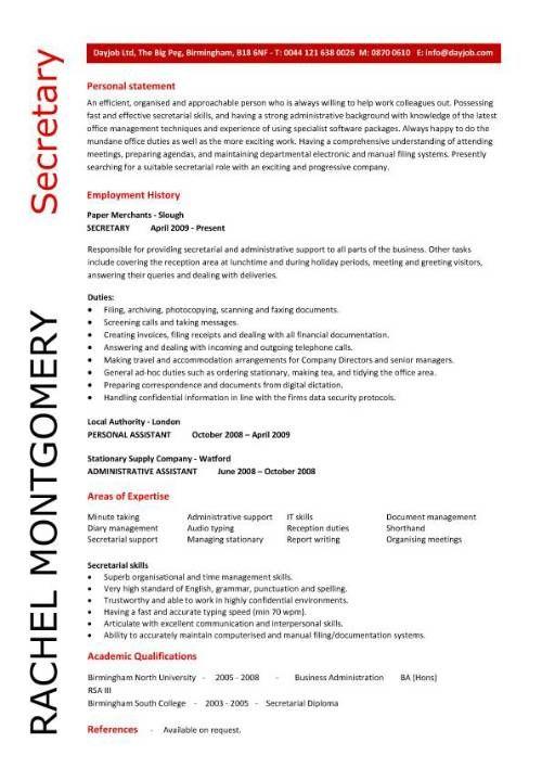 Secretary Resume Sample Pic Secretary Resume Sample Jpg Medical Assistant Resume Office Manager Resume Medical Resume
