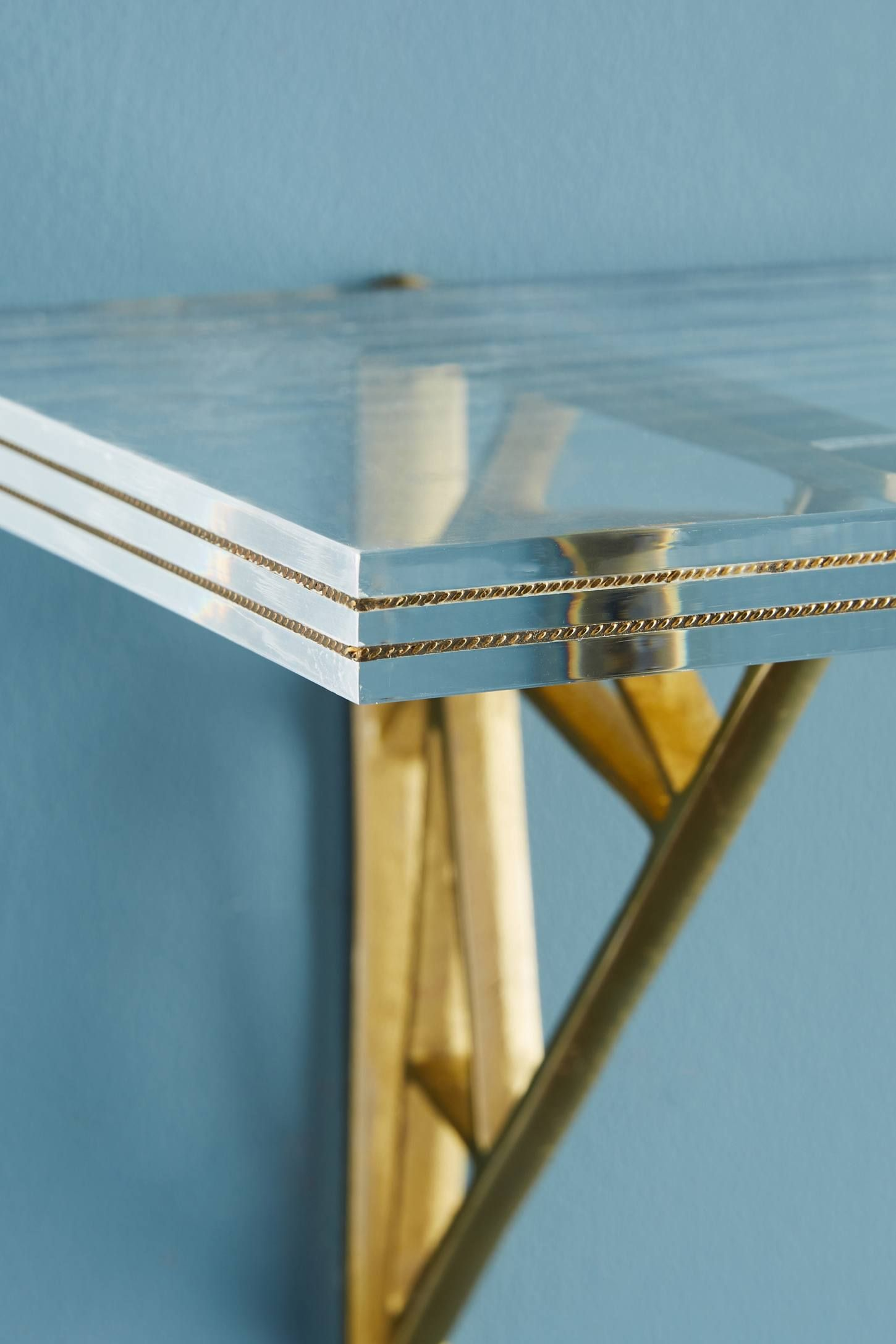 Brass Inlay Lucite Shelf | PROJECT: COUNCIL CREST | Pinterest ...