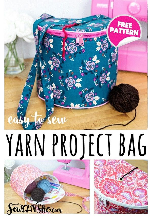 pattern: Yarn project bag for knitting and crochet
