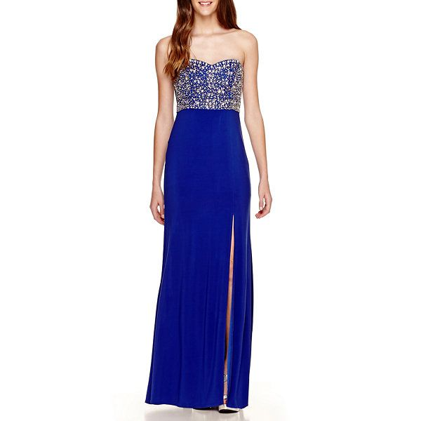 44aab6d91e Bee Darlin Strapless Knit Embellished-Bodice Long Dress- Juniors - JCPenney  OMG SO PRETTY