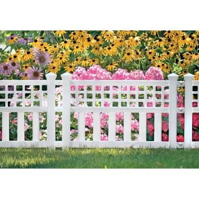 Resin Garden Fence Cplgvf24 At The Home Depot