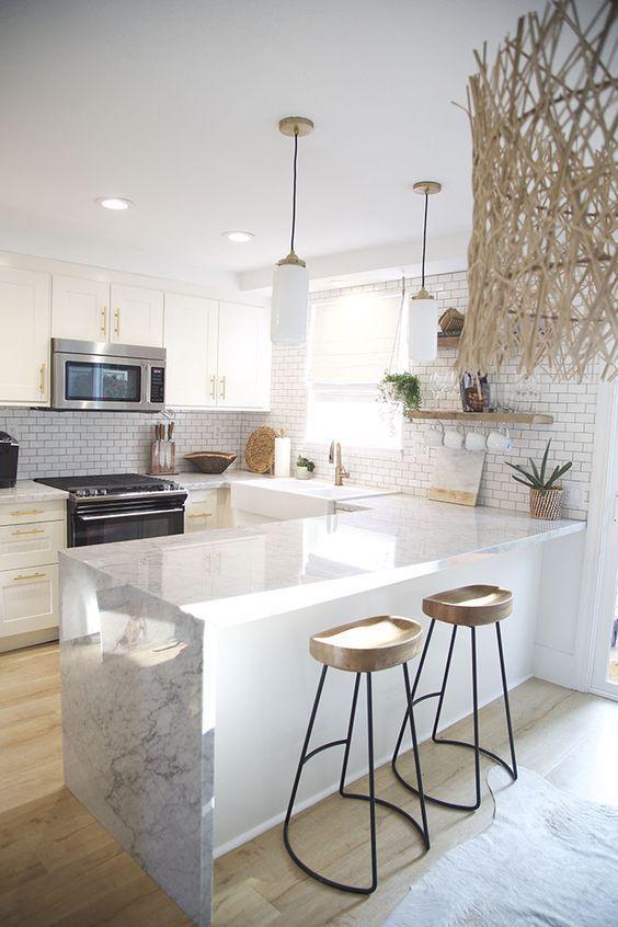 42 Clean White Kitchen Cabinet Remodel & Design Ideas -