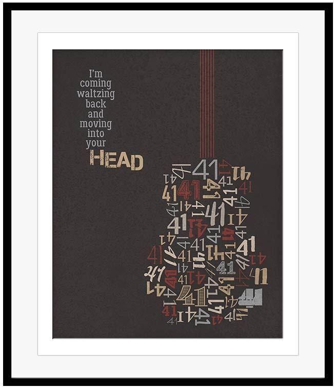 Dave Matthews Band Poster Number #41 Song Lyric Art DMB Original