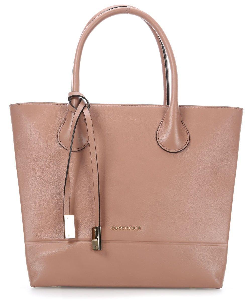 Coccinelle Bristol Smooth Handtasche Leder Altrosa 27 Cm C1va6180201 864 Designer Taschen Shop Handtasche Leder Taschen Taschen Leder