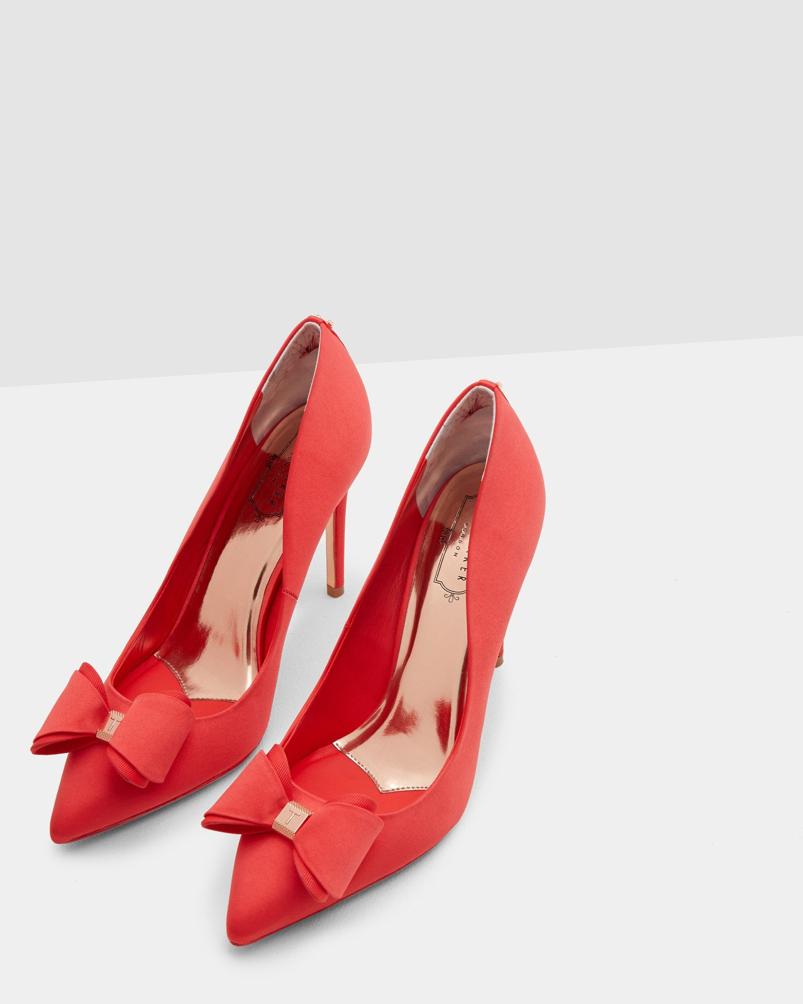 82947c89b92 Bow detail satin courts - Red