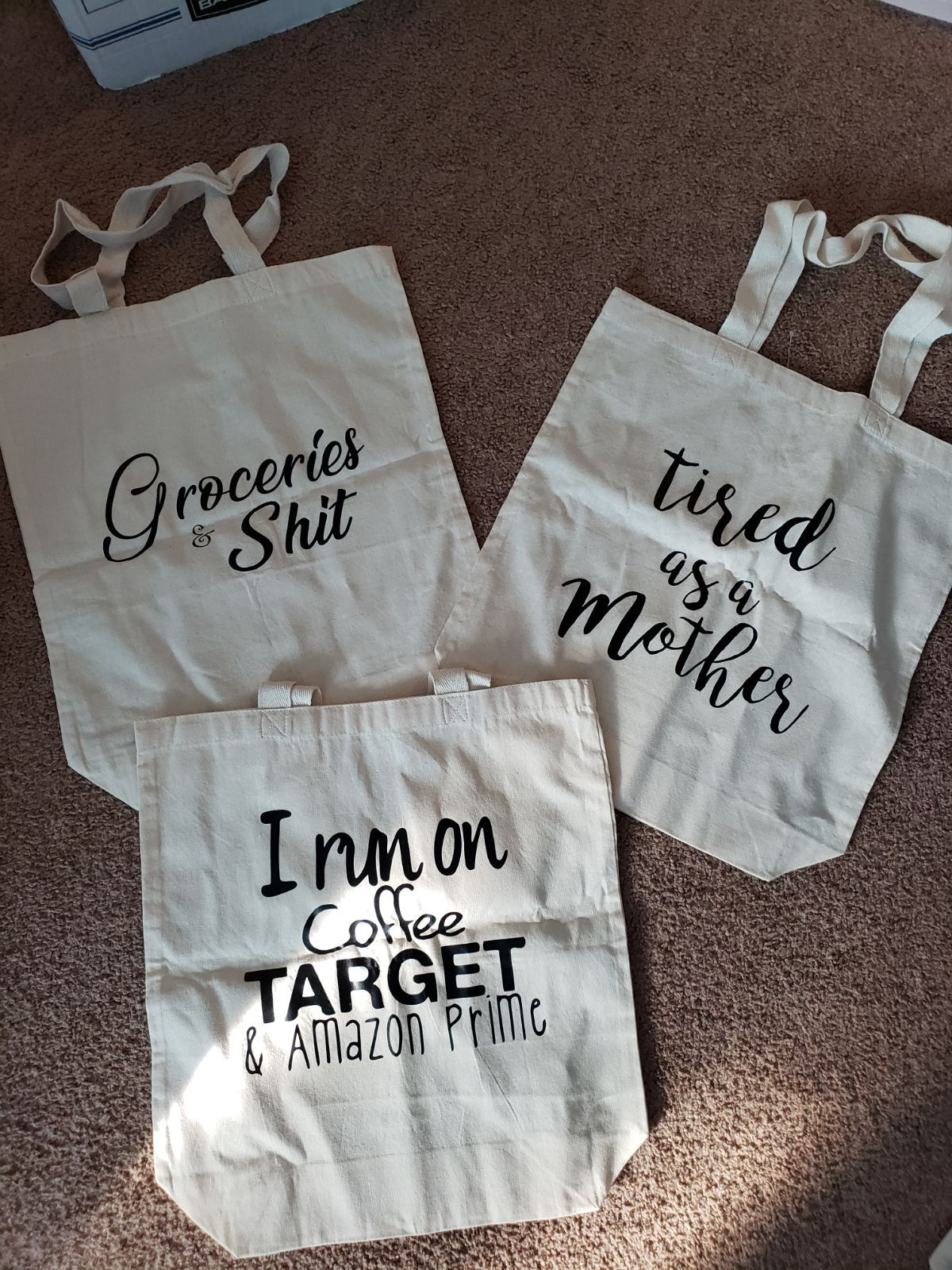 Canvas grocery bags on mercari in 2020 canvas grocery