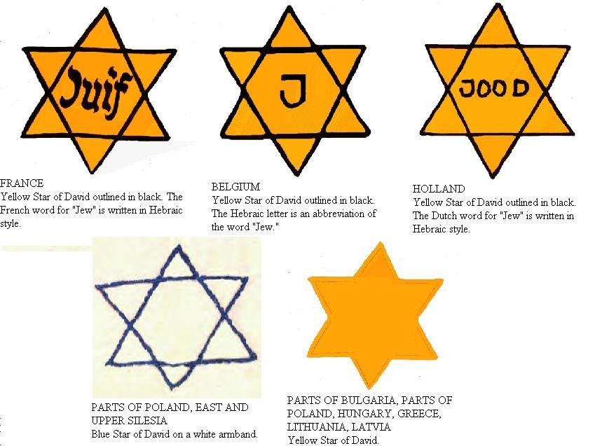 star of davids used during the holocaust my hebrew