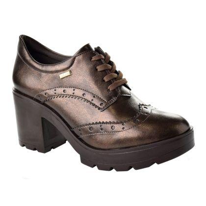 f71b0dad549 Sapato Oxford Salto Alto Quiz 17-47-69201 - Marrom
