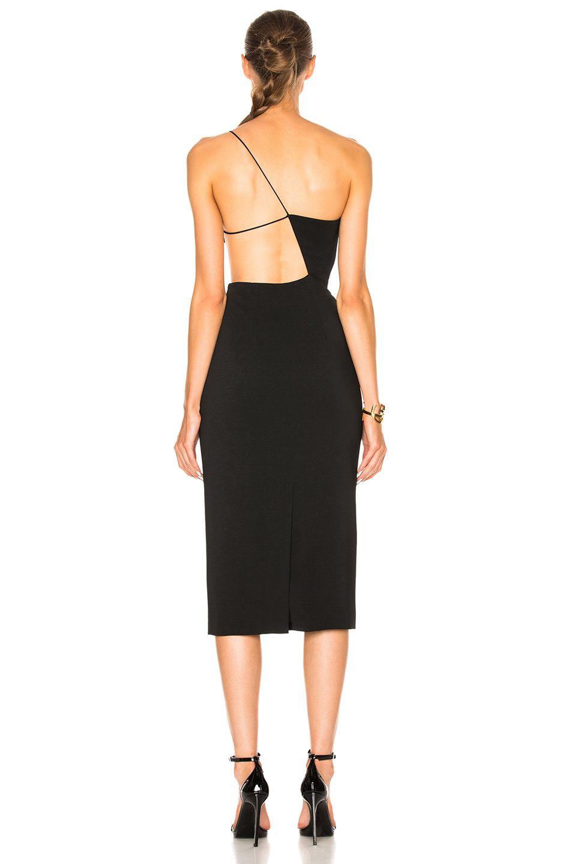 Image 4 of Cushnie et Ochs Cindy Asymmetric Open Back Dress in Black