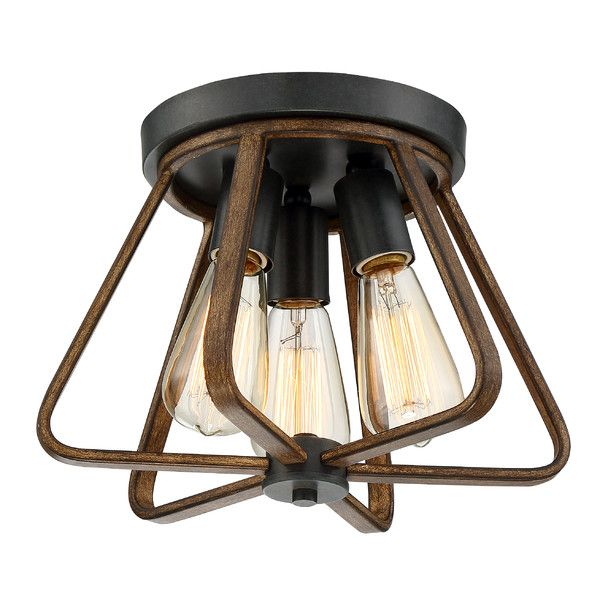 Trent austin design rancho cordova 3 light flush mount