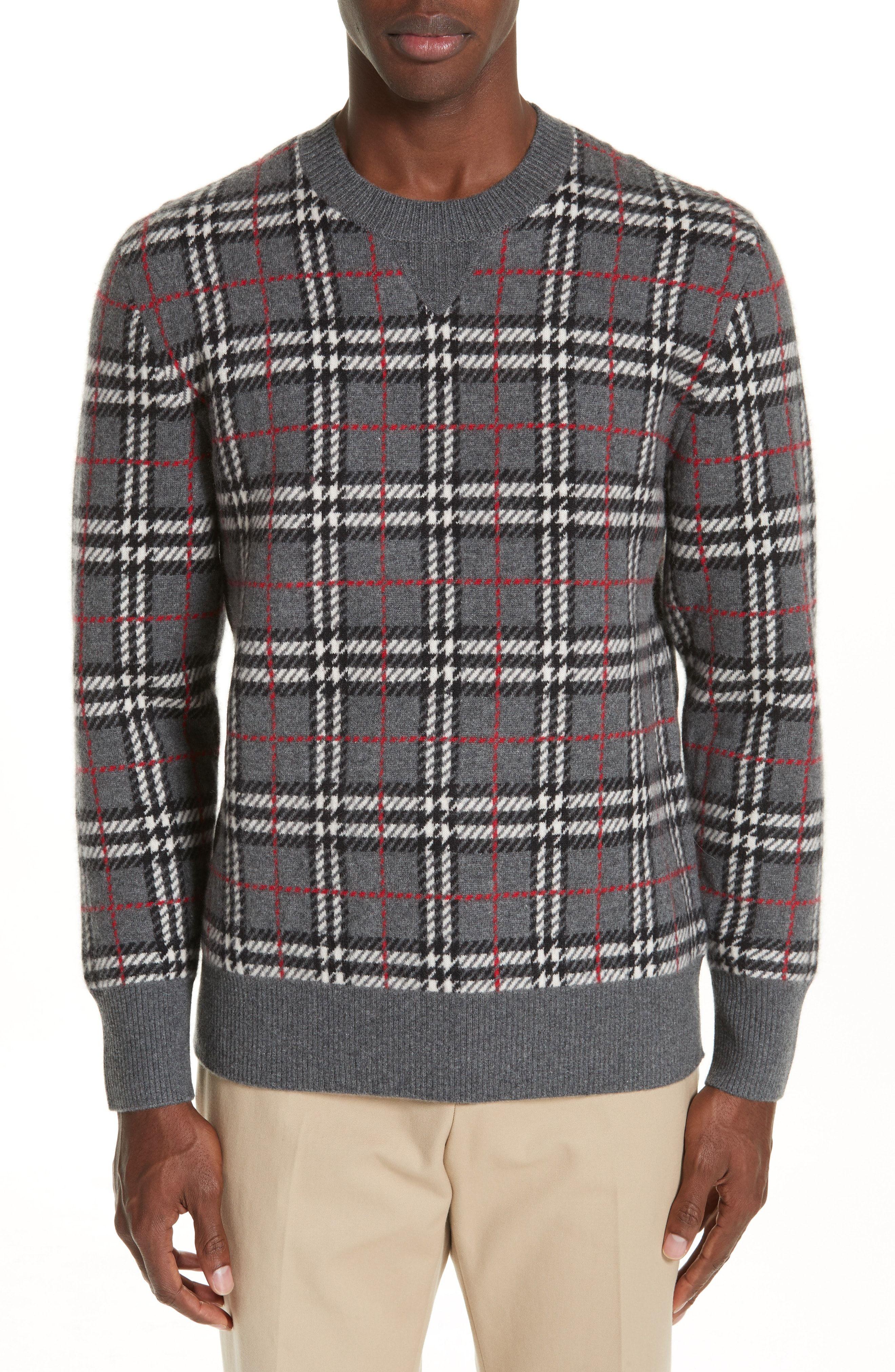 e246b03c8e0499 BURBERRY BANBURY CHECK CASHMERE SWEATER.  burberry  cloth