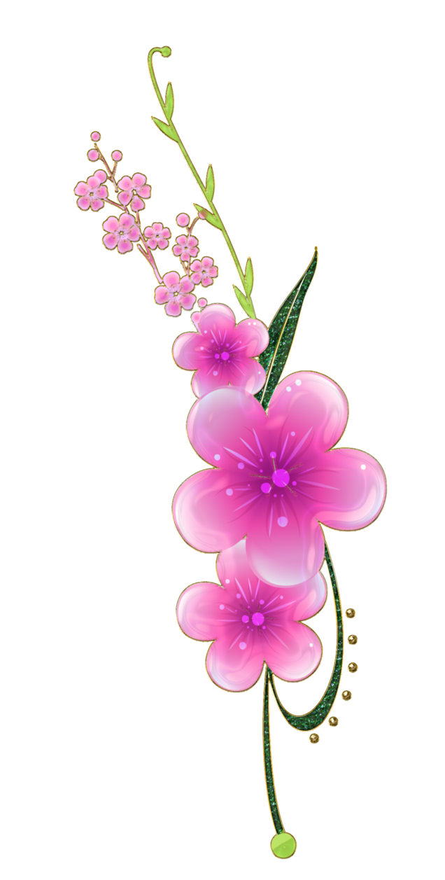 Sweet pink flowers png by melissa tm great graphics for