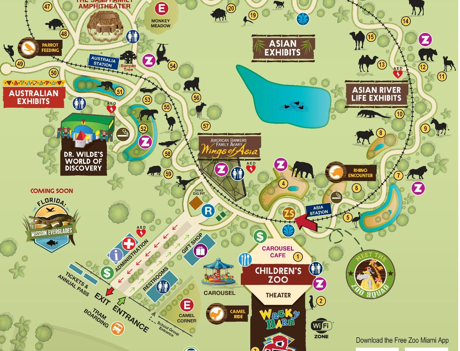 Zoo Map Zoo Miami Road trip Pinterest Zoos and Road trips