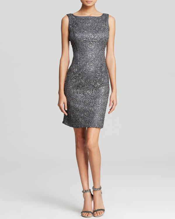 Adrianna Papell Dress - Sequin Lace Sleeveless